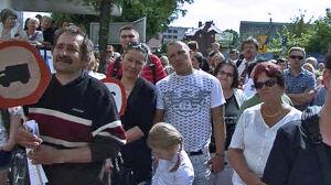 Protest mieszkańców,[br] burmistrz wybuczana