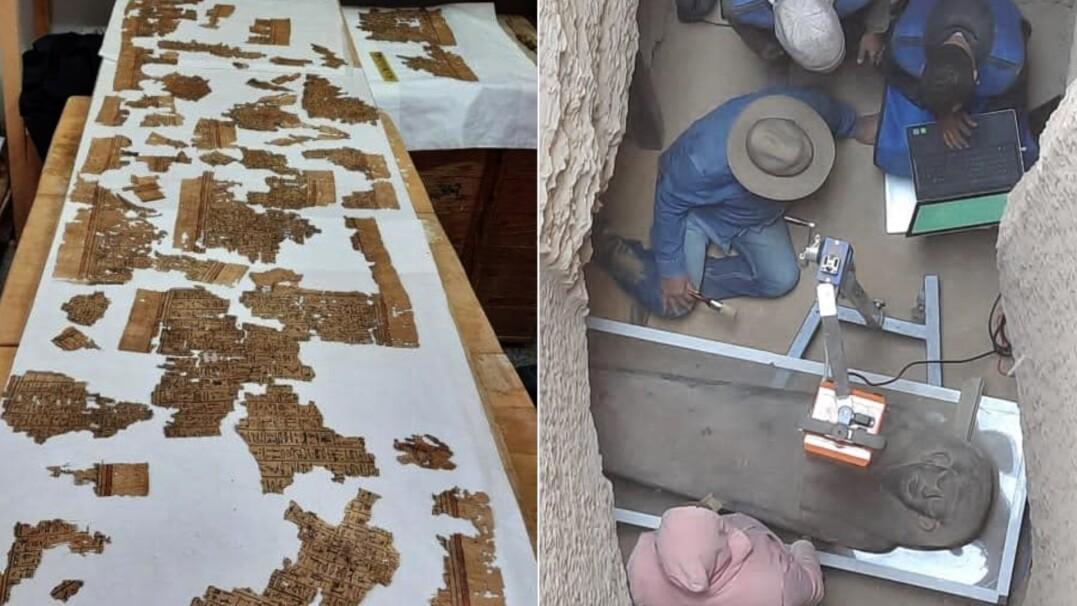 """Mumie sprzed trzech tysięcy lat, 4-metrowy papirus. """"Te odkrycia odmienią historię tego regionu"""""""