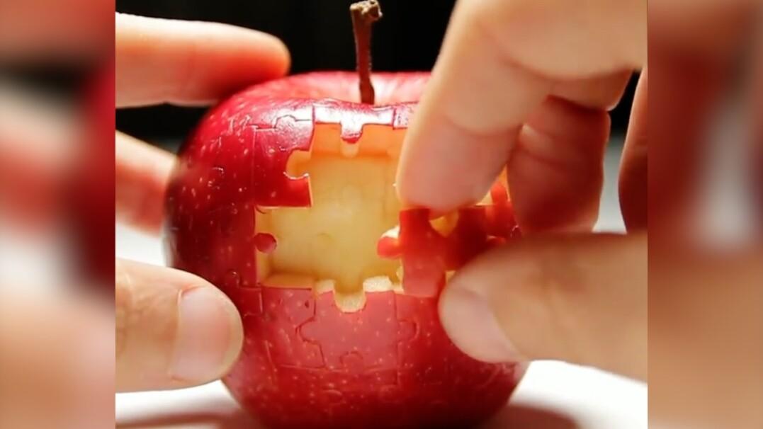 Puzzle z jabłka. Brzmi niedorzecznie, wygląda niesamowicie