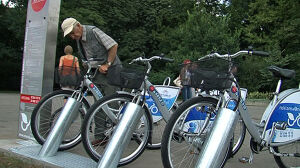 Rower miejski wystartował z drobnymi kłopotami