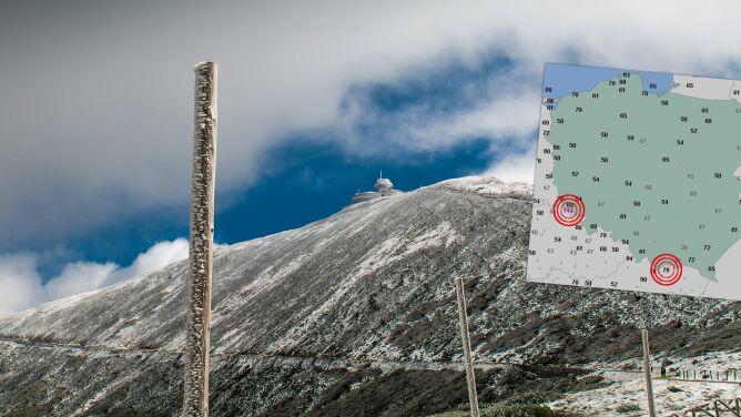 Niebezpiecznie silny wiatr w górach. <br />Porywy do 140 kilometrów na godzinę