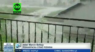 Marcin Betleja opowiada o sytuacji na Podkarpaciu (TVN24)
